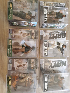 Various McFarland's Military Series 3 and 4 figurines