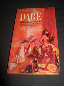 DARE by Philip Jose Farmer, rare 1965 US Ballantine sci-fi PB