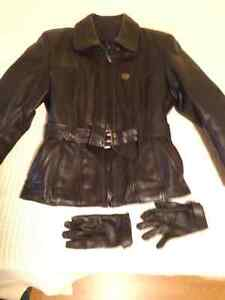 Womens Leather motorcycle jacket and pants