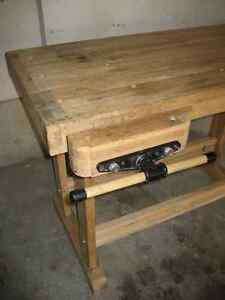 Woodworker's Bench - Solid Maple w/tail and side vises Kitchener / Waterloo Kitchener Area image 2