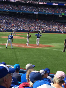 Row 7 FIRST BASE - JAYS vs. REDSOX Pair of Tickets for TODAY!!!