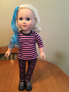 """18"""" doll my life with blue hair like American girl"""