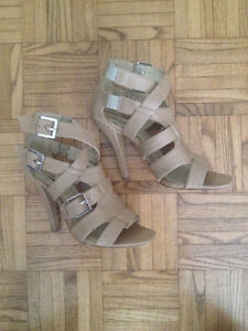 Gladiator Beige Heels Size 7 -Perfect for Formal!