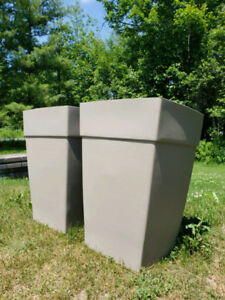 2 Large Patio Planters - New