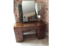 Vintage single bedroom suite wardrobe dressing table beds