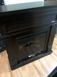 electric mahogany fireplace
