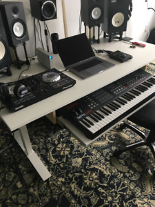 Ikea Skarsta Standing Desk w/ Keyboard tray & wire routing