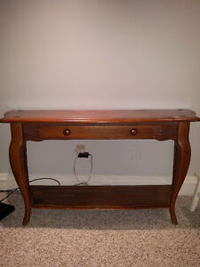Solid wood provincial style console table.