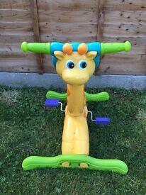 Kids giraffe exercise bike