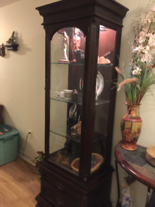 Curio wall cabinet with light was 1200 now 300
