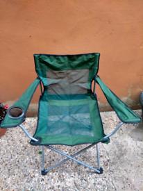 Green Folding chair - camping, fishing, beach