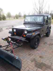 95 jeep tj with plow