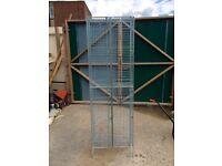 Original Vintage industrial metal wire frame lockers / storage units.