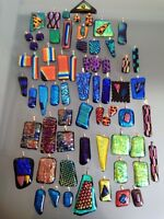 Dichroic fused glass pendants