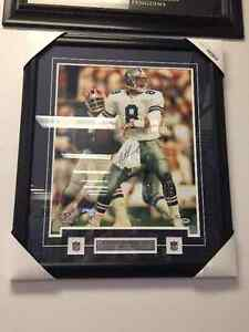Troy Aikman 16x20 Signed & Framed Football Picture W/COA