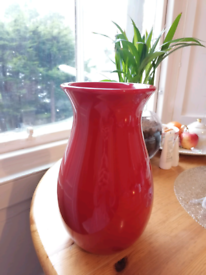 Red Vase for flowers or decoration