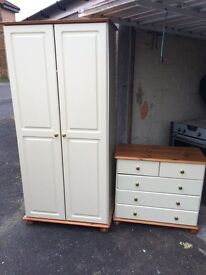 Solid wood wardrope and drawers