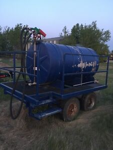 Fuel tank & trailer for farm tractors  or gravel operation $1000