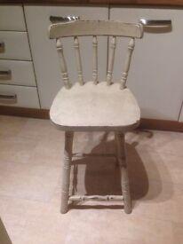 Shabby chic high chair