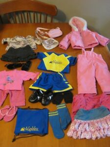 "18"" MAPLELEA BRIANNE DOLL WITH 5 OUTFITS like american girl doll"