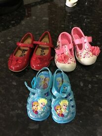 Girls assorted shoes size 5