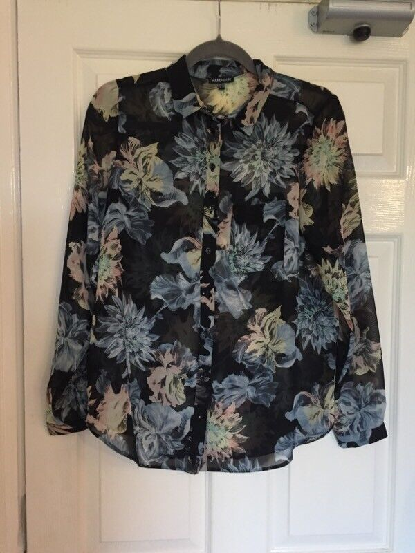 Warehouse Spikey Floral Blouse