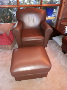 Comfy chair and footstool