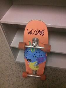Lightly used cruiser skateboard