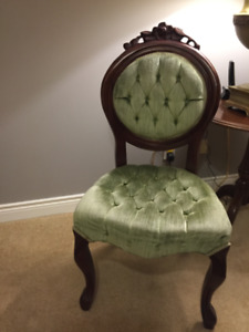 Antique Mahogany chair MINT original upholstery $300
