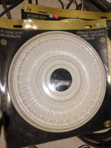 "16"" Ceiling Light / Fan Medallions (2) - NEW"
