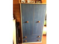 Childs wardrobe blue ex Argos