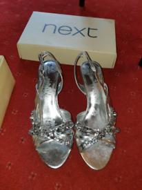 Next silver shoes size 7.