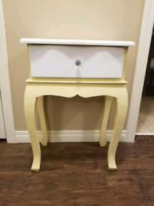 Cheerful Antiqued Side Table
