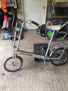 Portable fold up commuter bike, aluminium frame bike, Bickerton