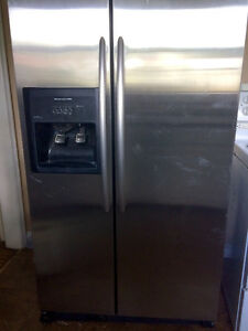 Kitchen aid stainless counter depth side by side fridge