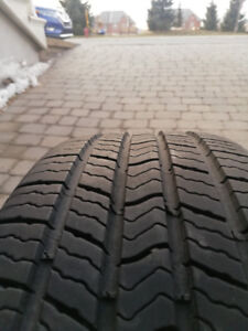 4 MICHELIN TIRES ALL SEASONS + RIMS -195 /65R15 USED 3000KM!!