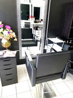Salon Studio in Ajax has TWO Stylist chair for rent