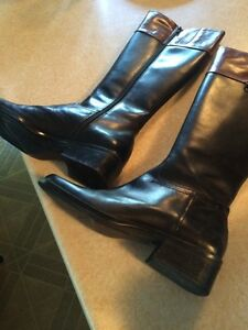 Ladies leather riding fashion boots