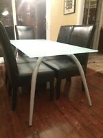 Tempered Frosted Glass Dining Table