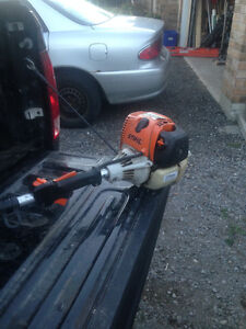 Stihl KM 90 Head with attachments