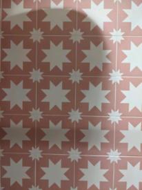 Bert and May Pink Pradena Tiles porcelain