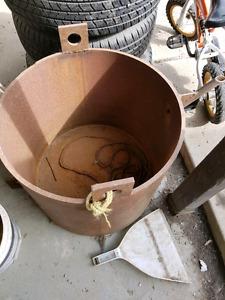 Big steel pot