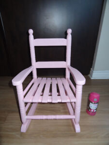 Baby or Toddler wooden rocking chair - pink