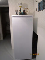 Danby 8.2 cu. ft. white upright Freezer less than 1 Yr old