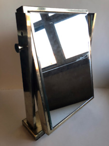 Heavy Antique Store Countertop Adjustable Jewerly Beveled Mirror