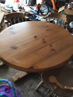 Pine Table with Six Chairs