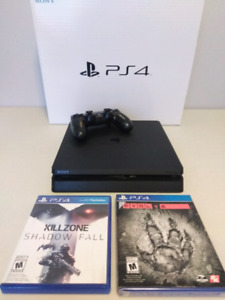 PS4 Slim with Controller, Killzone Shadow Fall & Evolve