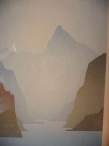 "Mountain Silhouettes by Peter, Traudl Markgraf ""Inlet"" Signed Stratford Kitchener Area image 4"