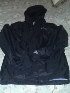 Columbia Rain Jacket - black, mens small