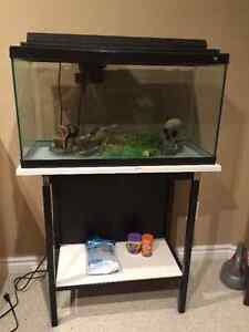 75 OBO 30 gallon fish tank, stand, and accessories